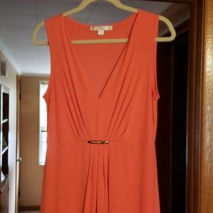 Maxi dress with matching shoes
